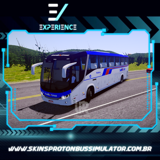 Skins Proton Bus Simulator Road - Comil Invictus MB O-500 RS Santa Cruz