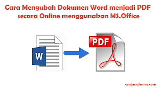 Cara Mengubah Dokumen Word menjadi PDF secara Offline