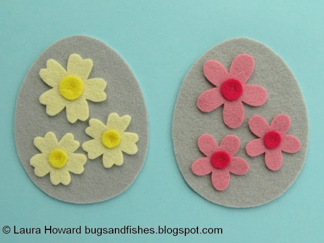 sew the circles with an x of two stitches