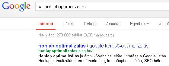 weboldal optimalizálás - honlap-seo