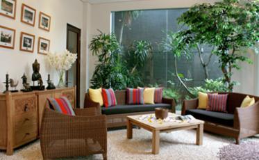 Contoh Taman Di Dalam Rumah Minimalis
