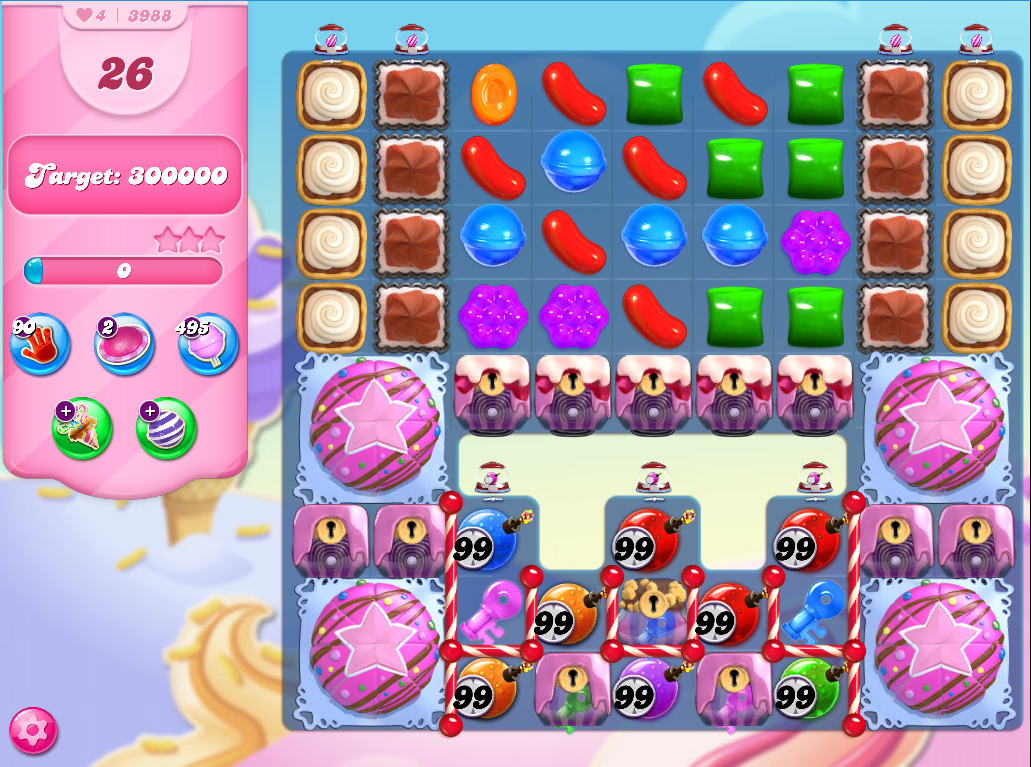 Candy Crush Saga level 3988