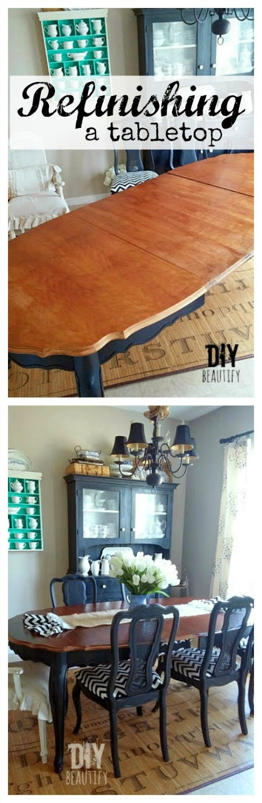 how to refinish a dining table