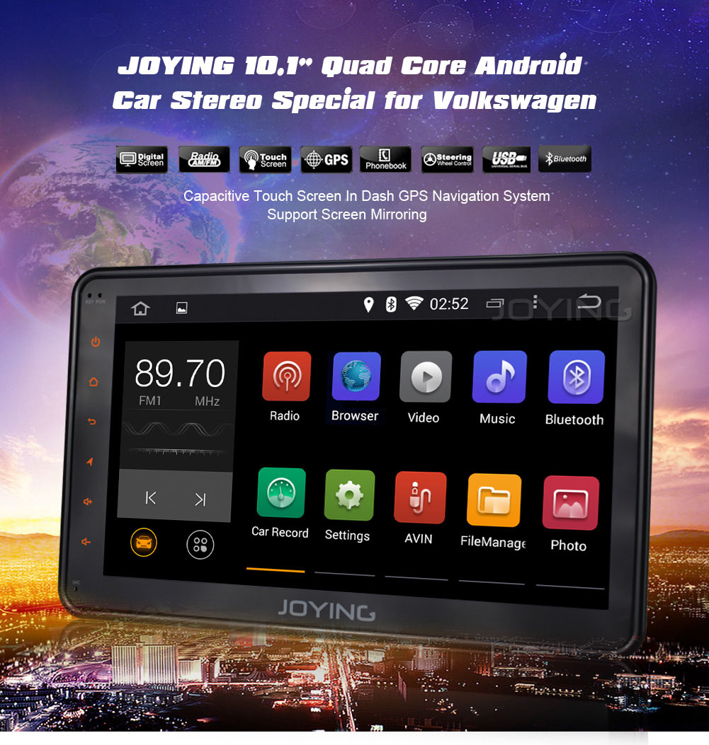 Joying Android Car Stereo: New Arrival--- 10.1 Inch Screen