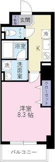 大道 徳島 新築 単身 1K シティ・ハウジング K-クレスト大道 ケイクレスト オートロック インターネット無料 システムキッチン 鉄筋コンクリート