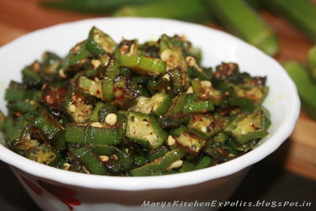 Lady's Finger Fry Recipe | Bhindi fry | Vendakya poriyal