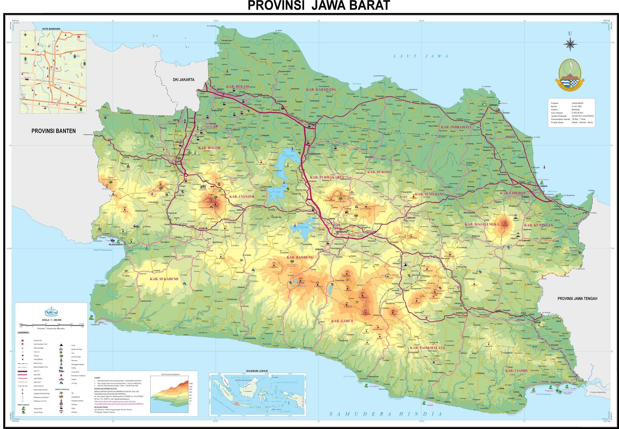 Peta Kota Jawa Barat Hd Gambar