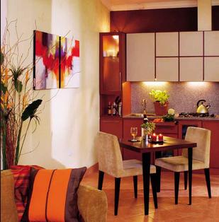 desain ruang makan minimalis bernuansa romantis