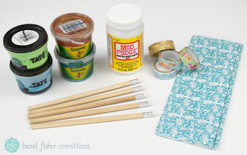 3 Techniques to Decorate Pencils - back to school diy stationery project, Hazel Fisher Creations