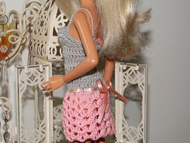Vestidinho de Crochê Para Barbie 6