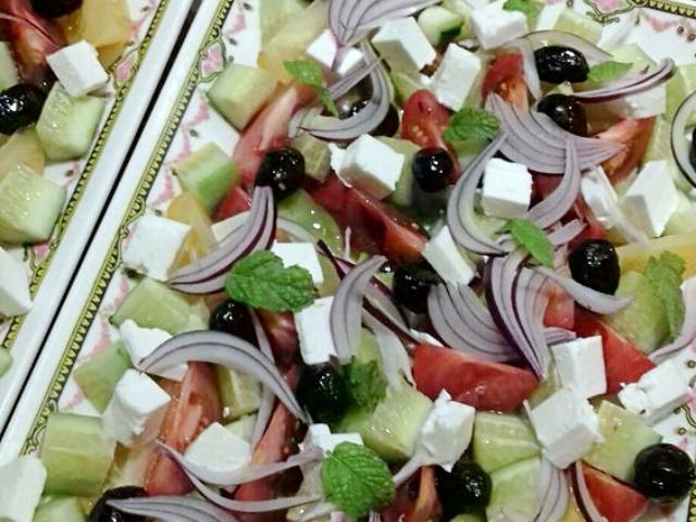 Recette végétarienne : Salade grecque de fête
