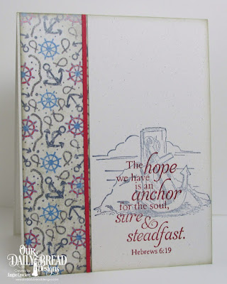 ODBD Anchor, ODBD Nautical Paper Collection, Card Designer Angie Crockett