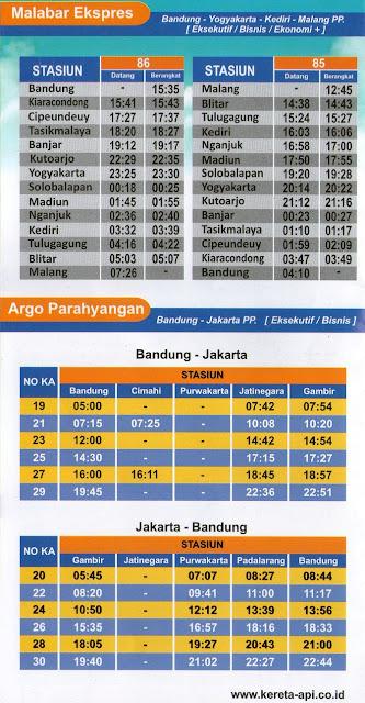Jadwal Kereta Api Terbaru Daop 2 Bandung (Eksekutif-Bisnis)