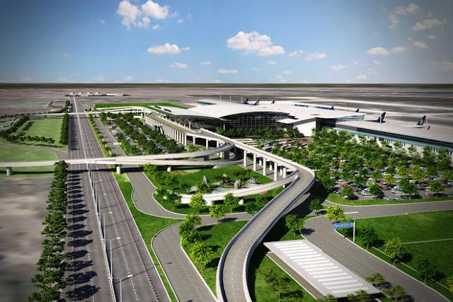 Phối cảnh sân bay Nội bài 2
