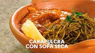 Caraparulcra con Sopa Seca | RECETASAHORA.COM