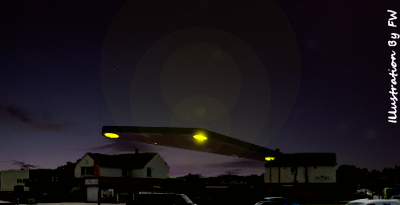 Triangle UFO Spotted Hovering Over Swindon, Wiltshire 10-3-2014