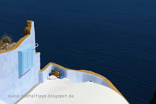 Haus auf Santorin: Foto von Stampin' up! Demonstratorin Susanne McDonald Susis Basteltipps