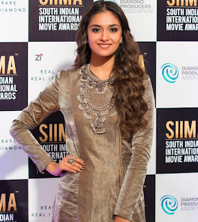 Keerthy Suresh with Cute and Awesome Lovely Smile at SIIMA Awards 2019 2