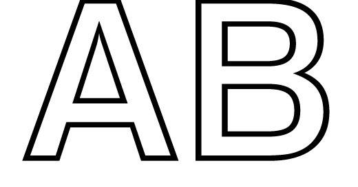 Dibujos y Plantillas para imprimir: Abecedario letras para