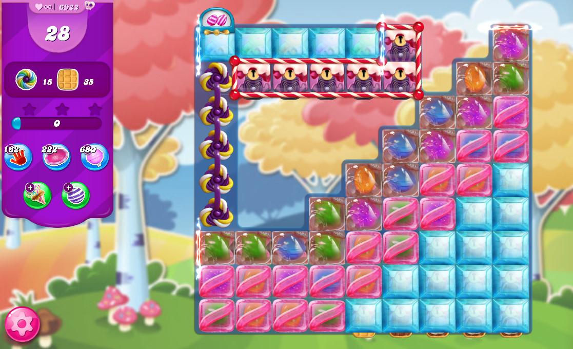 Candy Crush Saga level 6922