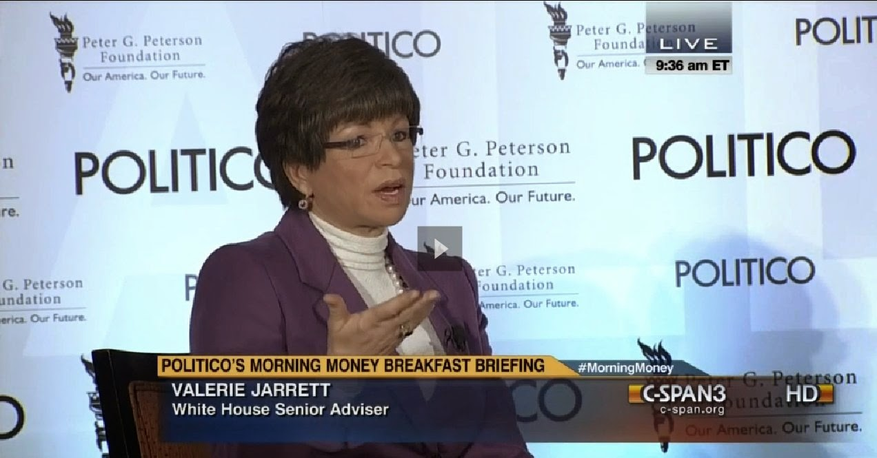http://www.c-span.org/video/?316859-1/valerie-jarrett-politico-money-breakfast