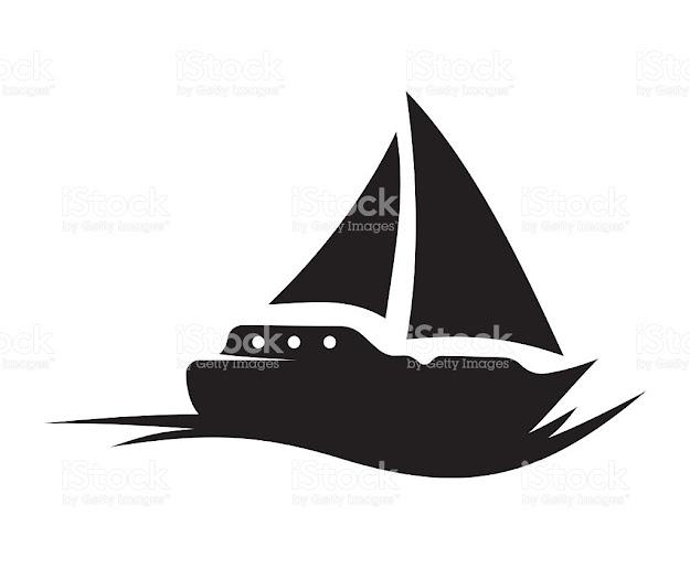 Sailing Boat Vector Icon Royaltyfree Stock Vector Art