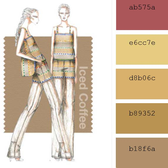 Pantone fashion colors spring 2016, beige Iced coffee