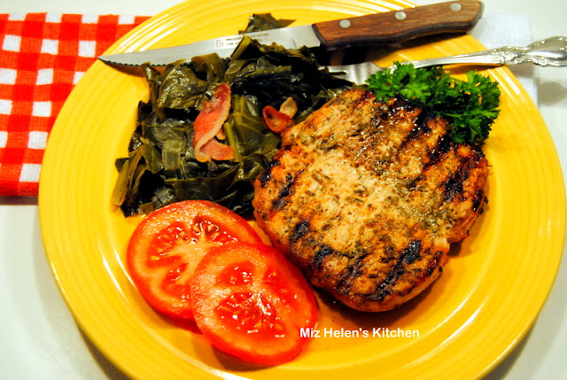 Herb Grilled Pork Chops at Miz Helen's Country Cottage