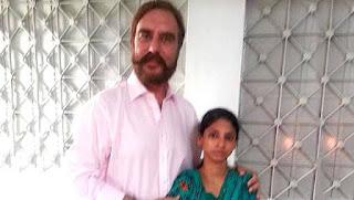 Bhaijaan Ansar Burney with Geeta or Guddi(Munni)