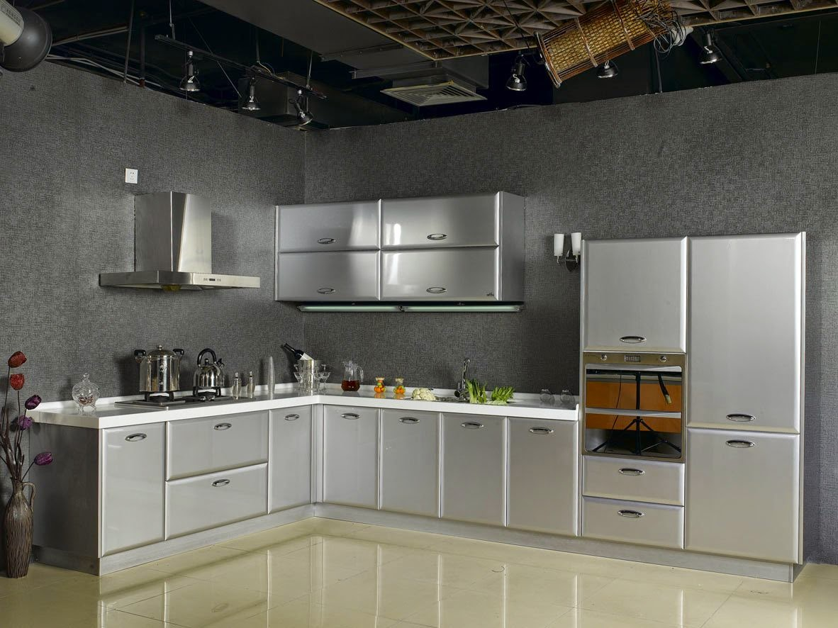 Kitchen set stainless steel kitchen set stainless for Harga kitchen set stainless steel
