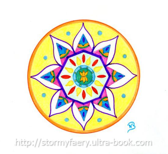 L\'art de Stormy Faery: Le mandala ou méditation haute en couleur