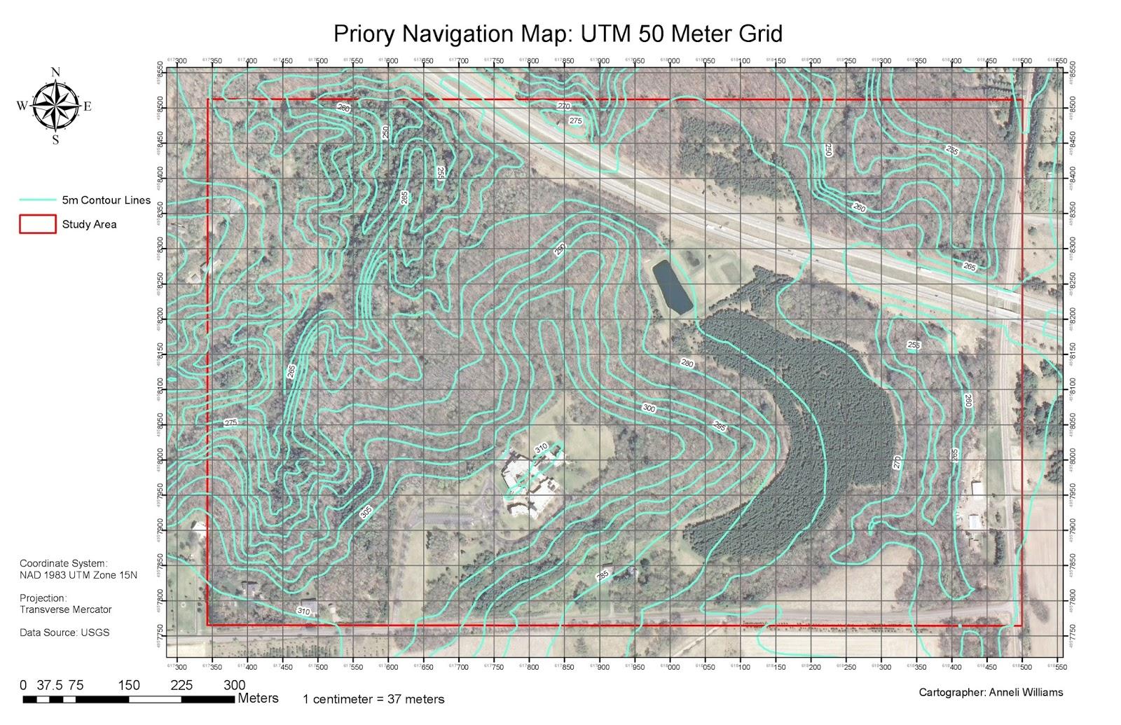 figure 5 navigation map using utm