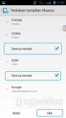 Menampilkan Kontak Nomor Android