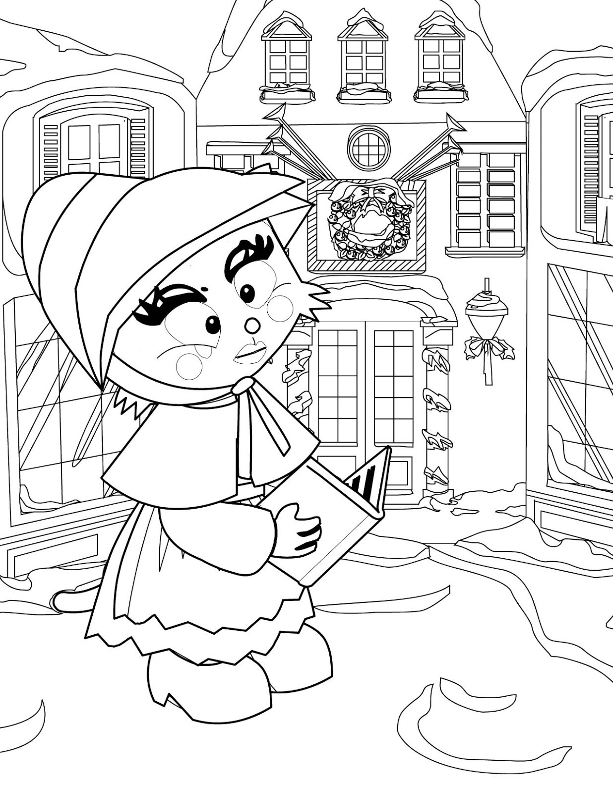 Victorian Christmas Carolers Coloring Pages