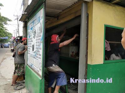 Folding Gate pemasangan di Bpk Ujang di Ratujaya Depok