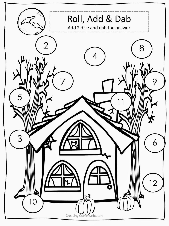 Creating Communicators: Freebie!!! Halloween Math & Literacy