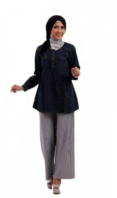 Foto Model Baju Hamil Atasan Muslim Terbaru 2015