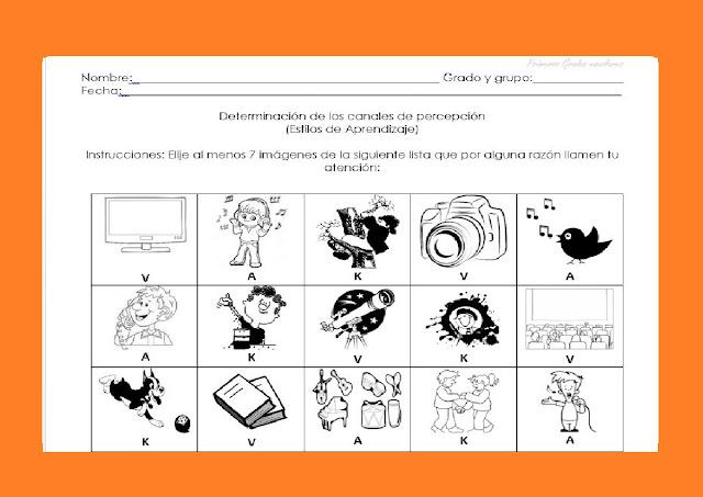 auditivos,kinestesicos,visuales,niños,primaria