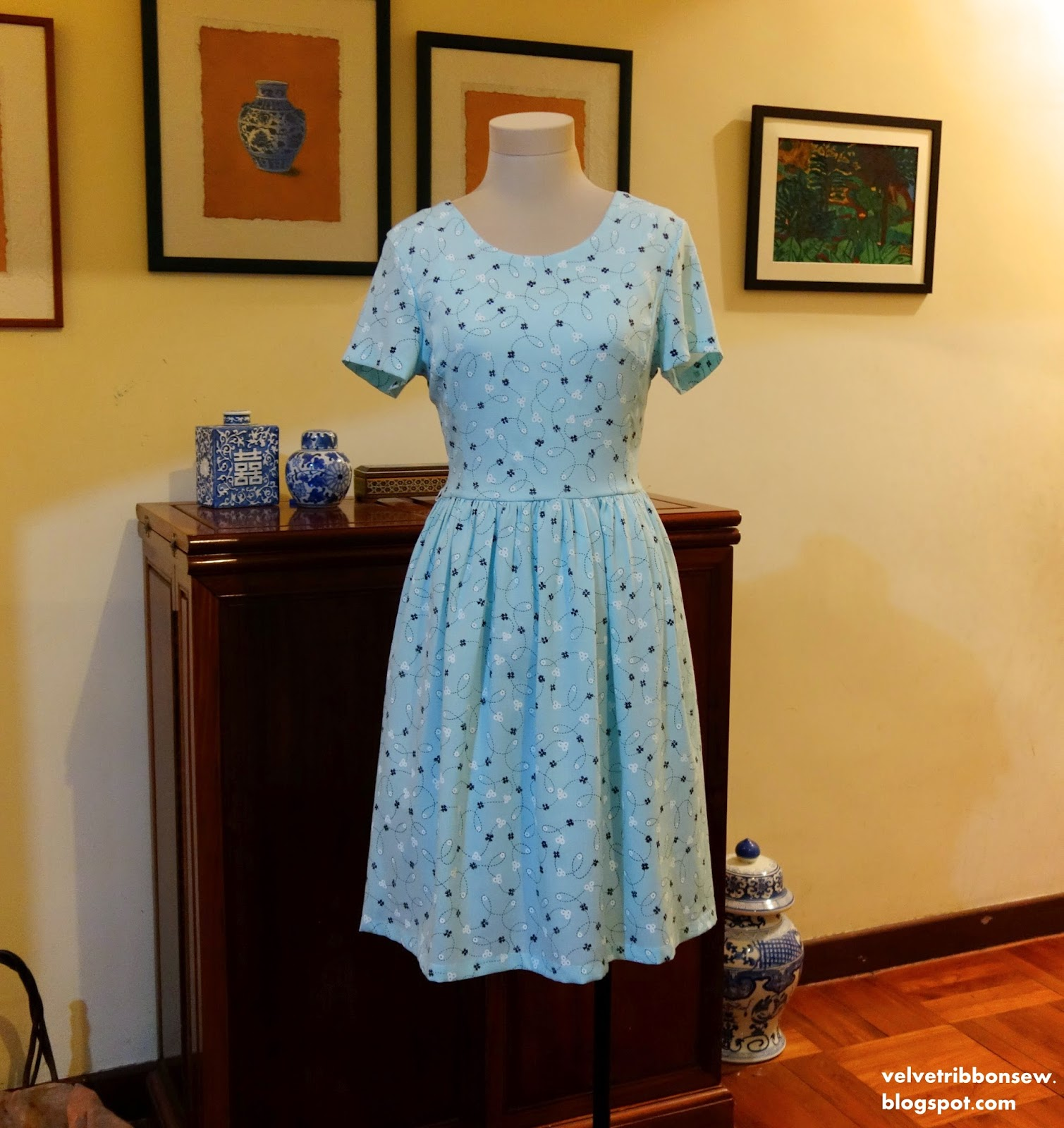 50's Inspiration Mint Dress