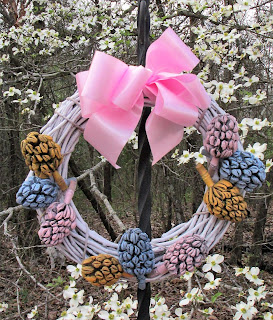 magnolia seed pods Easter craft Faberge Egg