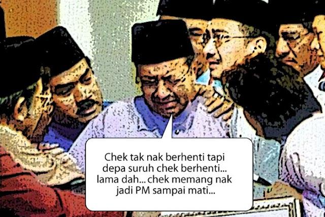 Udah-udah laa Mahathir