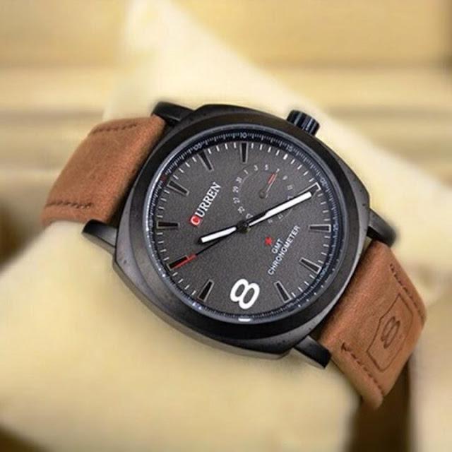 Đồng hồ nam dây da bò