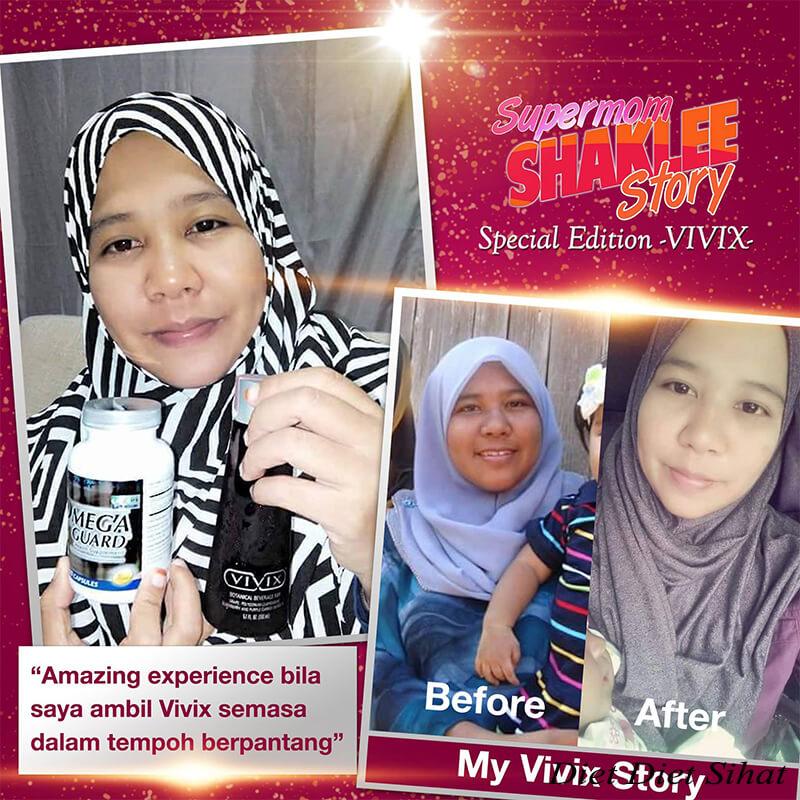 vivix selepas berpantang badan sihat