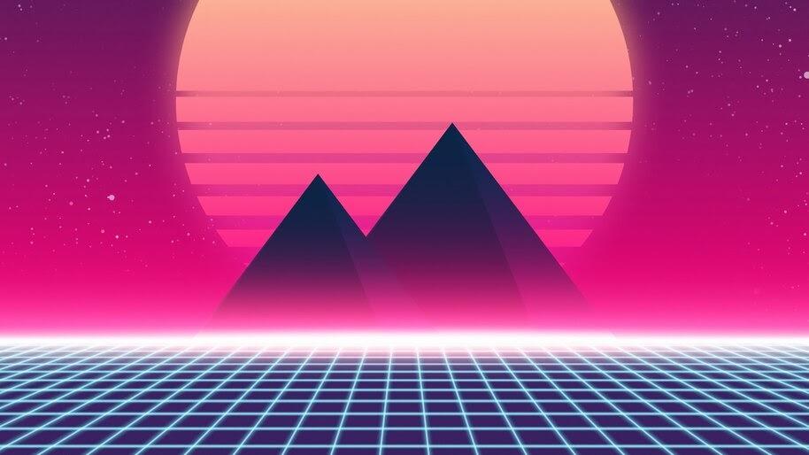 Digital Art, Landscape, Synthwave, 4K, #4.2031