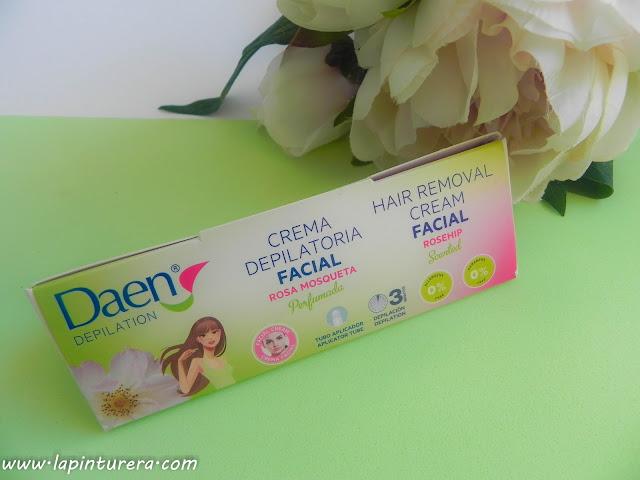 crema depilatoria facial con rosa mosqueta