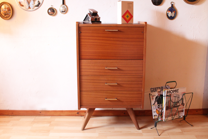 Coiffeuse - commode vintage années 60 | Chicbaazar objets Vintage 50 ...