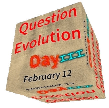 Question Evolution Day, The Question Evolution Project, God, Bible, Ian Juby, Apologetics, Creation, Creation Science, Charles Darwin, Evolution, Creationism