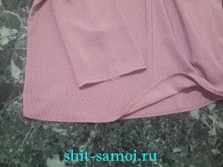 Низ блузки и рукав подшивка