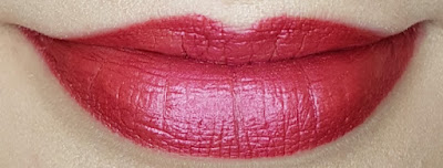 Avon True Luminous Velvet Lipstick swatch in Chilling Cherry