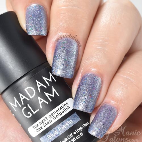 Madam Glam Gel Polish Blue Fiesta Swatch